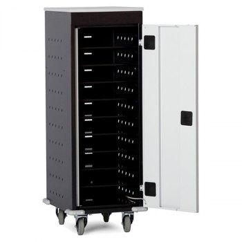 PC- og laptopvogn, inkl. strømuttak-10 rom, BxDxH = 530x500x1250 mm