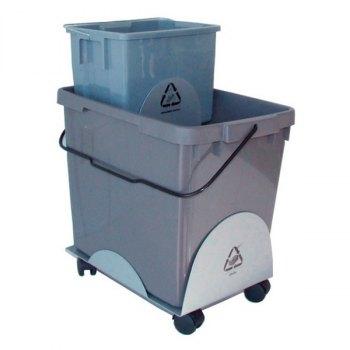 EcoOffice kildesorteringsvogn-1x25 og 1x6 liter