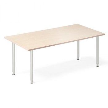 InOffice manuelt hev/senk skrivebord, bjørk, rektangulært