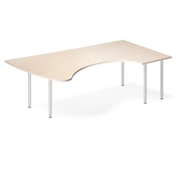 InOffice manuelt hev/senk skrivebord, bjørk