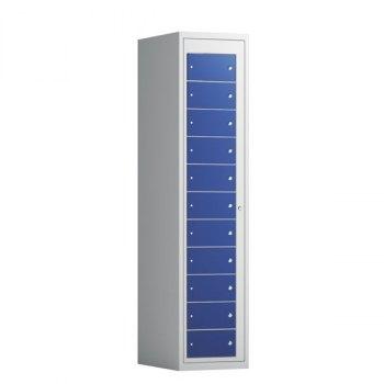 Tøyutleveringsskap, 11 rom i høyden-400 mm (1x400 mm = 11 rom)-Mørk blå, RAL 5010