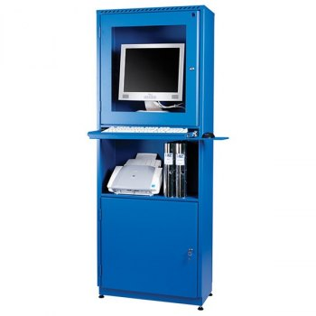 AtWork PC-skap-Blå, RAL 5005