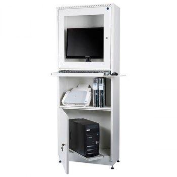 AtWork PC-skap-Gråhvit, RAL 9002