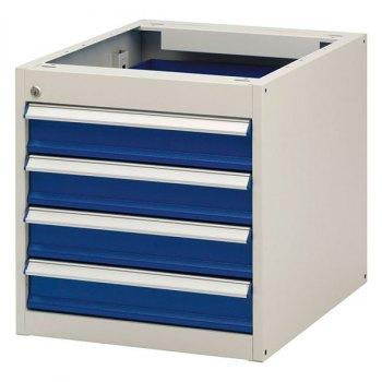 InPro1 skuffeseksjon for arbeidsbord-BxDxH = 535x665x540 mm, inkl. 4 stk skuffer (4x100 mm)