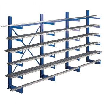 Rack grenreol-1-sidig startfag, BxDxH = 1250x500x2000 mm