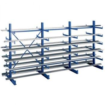 Rack grenreol-2-sidig startfag, BxDxH = 1250x500 500x2000 mm