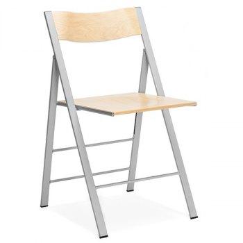 Happy klappstol-Bjørk-Alugrå