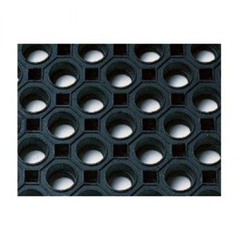 Add ringmatte i svart gummi og kraftig mønster for sklisikring. Nærbilde.