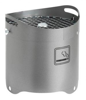 Ash 45 liter askeberger for utendørs bruk, grå farge