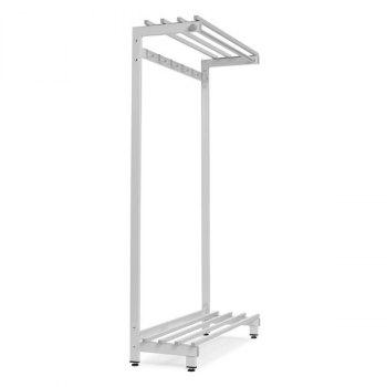 Ensidig garderobestativ med skohylle-1050x380x1770 mm (inkl. 6 stk kroker)