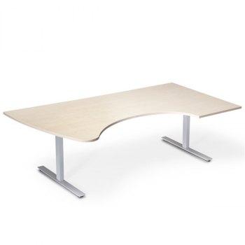 InOffice elektrisk hev/senk skrivebord, bjørk